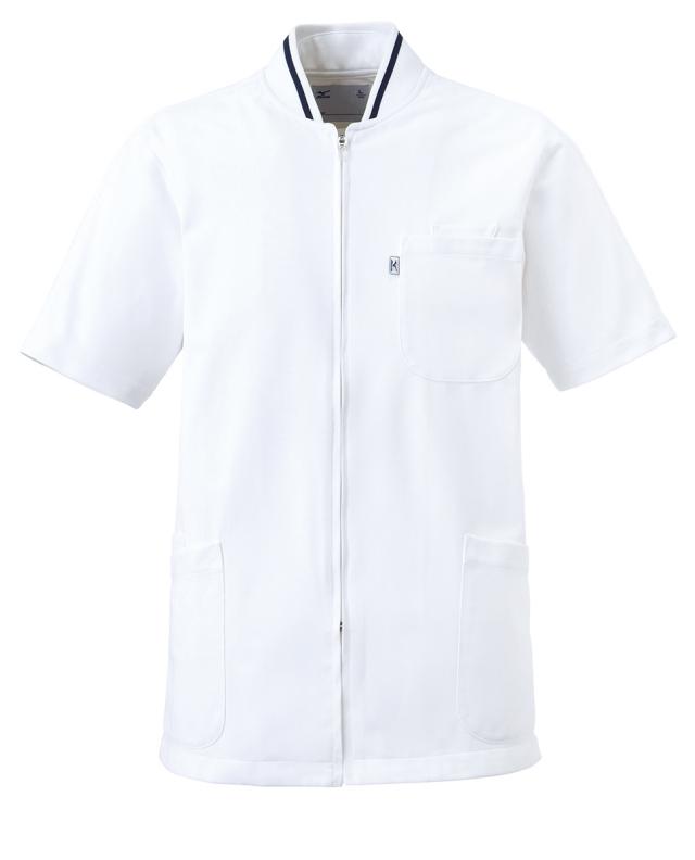 【unite×ミズノ】MZ-0050【男女兼用ケーシージャケット・KC・白衣・半袖上衣・Dynamotion Fit】