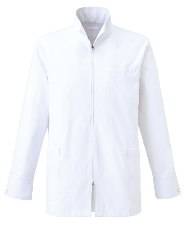 【unite×ミズノ】MZ-0056【メンズドクターハーフコート・男性白衣・長袖・Dynamotion Fit】