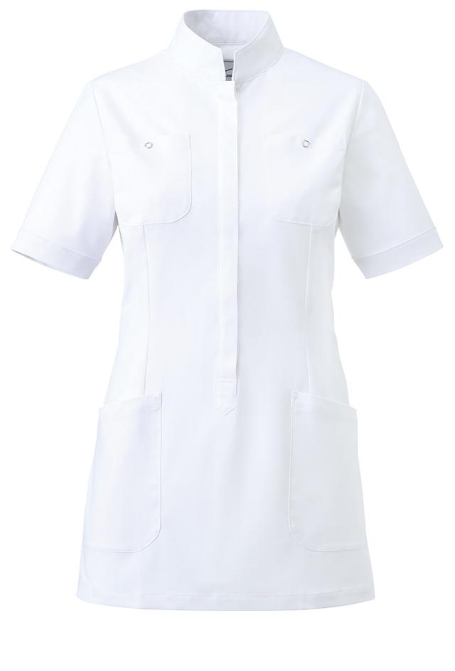 【unite×ミズノ】MZ-0062【ジャケット・白衣・半袖上衣・看護衣・Dynamotion Fit】
