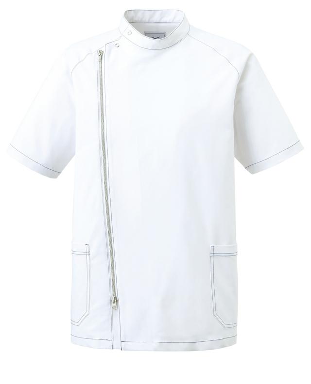 【unite×ミズノ】MZ-0066【メンズジャケット・男性白衣・半袖上衣・Dynamotion Fit】