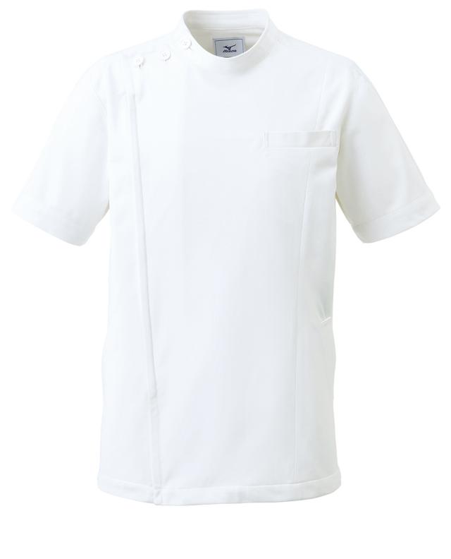 【unite×ミズノ】MZ-0069【男女兼用ケーシージャケット・KC・白衣・半袖上衣・Dynamotion Fit】