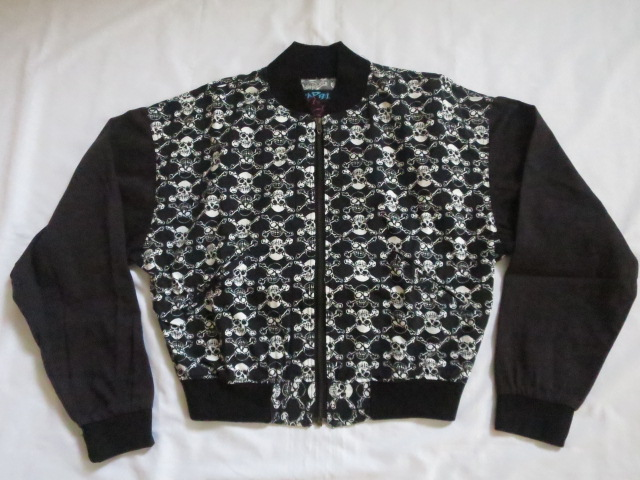 80'S LIFE'S A BEACH Punk Skull Jacket