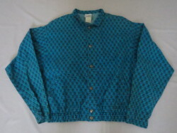 80'S LIFE'S A BEACH Punk Skull Jacket Blue