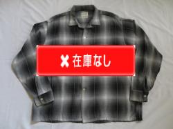 50'S PENNEY'S TOWNCRAFT 黒白オンブレシャドーチェックシャツ