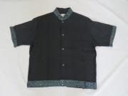 60'S Mr.Kool 黒レーヨン&ラメDEAD STOCKシャツ