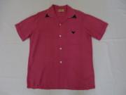 50'S Roque Pink&Navy切り替えレーヨンシャツ
