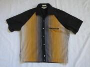 50'S Foreman&Clark ストライプコットンシャツ