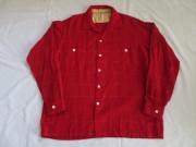 50'S RedXWhiteXBlueネップウールシャツ
