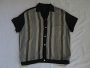 SALE 50'S Blackイタリアンカラーストライプシャツ ¥21600⇒¥12960