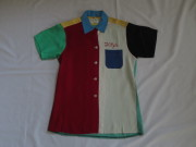 50'S クレイジーパターンボウリングシャツ Ladies
