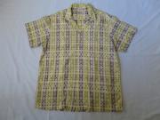 50'S Maler トランプ柄コットンシャツ