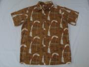 50'S 風見鶏柄コットンシャツ