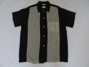 50'S Anscot BlackXWhiteレーヨンシャツ