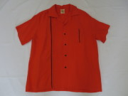 50'S Cali Craft OrangeXBlackレーヨンシャツ