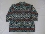 60'S BALBOA 幾何学柄七分袖コットンシャツ