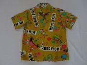 70'S MALIHINI 総柄ハワイアンシャツ
