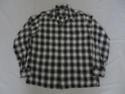 50'S PENNEY'S 黒白シャドーチェックレーヨンシャツ