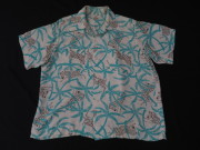 50'S Zebra print Hawaiian shirt