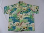 50'S Lolei Komo 和柄ハワイアンシャツ
