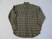 50'S 織り込みストライプ柄ウエスタンシャツ