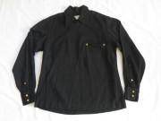 50'S FLIGHTMASTER Black ギャバジンジップシャツ