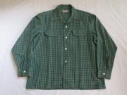50'S BVD チェックコットンシャツ
