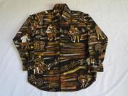 60'S Dance print cotton shirt
