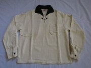 50'S HOWARD'S WhiteXBlack プルオーバーネルシャツ