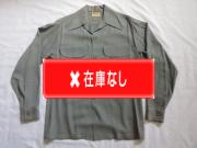 50'S La Salle グレーギャバジンシャツ
