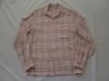 50'S PinkXBlack レーヨンシャツ