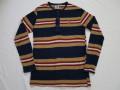 70'S Kennington ミッキー刺繍ボーダーL/S Tシャツ