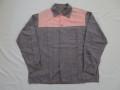 50'S グレーXピンク クレイジーネップコットンシャツ