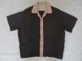 50'S Gray&Pinkネップギャバジンシャツ