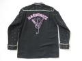 50'S Hawaii Made スパンコール付きブラックシャツ