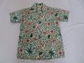 50'S Crystal オクトパス柄コットンシャツ