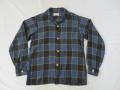 50'S Shapely チェックレーヨンシャツ