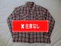 50'S BlackXPinkXWhiteチェックレーヨンシャツ