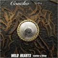 コンチョ 合金 インディアンジュエリー Metal Concho Native American WILD HEARTS Leather&Silver (ID 0204t33)