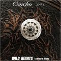 クリックポストのみ送料無料!コンチョ/インディアンジュエリー/オニキス/ Metal Concho/Native American/Onyx(ID 0484t34)