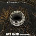 コンチョ/シルバー925/天然石/オニキス/インディアンジュエリーConcho/onyx/Silver and Black Onyx Concho/925 Silver/WILD HEARTS Leather&Silver (ID con08t31)