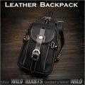 レザー 牛革 ボディバッグ ワンショルダーバッグ ショルダーバッグ 斜めがけバッグ 黒 ブラック Genuine Cowhide Leather Backpack Shoulder Sling Travel Bag Black WILD HEARTS Leather&Silver (ID bb3444b48)