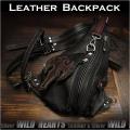 ボディバッグ ワンショルダーバッグ レザー リュック 2WAYバッグ 革 Leather Backpack Shoulder Sling Travel Bag shoulder purse Unisex WILD HEARTS Leather&Silver (ID bb2981t24)
