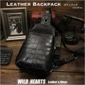 送料無料 クロコダイル 本革 斜めがけバッグ ボディバッグ ワニ革 ブラック メンズ Crocodile Skin Leather Backpack Shoulder Sling Bag Black WILD HEARTS Leather&Silver(ID bb4214t5)