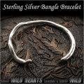 バングル ブレスレット シルバー925 フリーサイズ  メンズ Sterling Silver 925 Fashion Women Men's Twisted  Bangle Bracelet Cuff WILD HEARTS (ID sb3673r79)