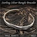 バングル ブレスレット シルバー925 フリーサイズ  メンズ Sterling Silver 925 Fashion Women Men's Twisted  Bangle Bracelet Cuff WILD HEARTS (ID sb3674r79)