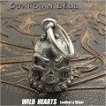 ガーディアンベル バイカーベル 合金 キーホルダー ペンダント スカル Guardian Bell Harley Accessory Motorcycle Ride Bell Skull Metal Pendant WILD HEARTS Leather&Silver(ID kh4031k5)
