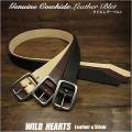メンズ レザーベルト  ベルト 本革 ヌメ革 サドルレザー タン/ナチュラル/ブラウン/ブラック Men's High Quality Genuine Cowhide Leather  Belt Pin Buckle Natural/Brown/Black WILD HEARTS Leather&Silver (ID lb3772t57)