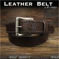 本革ベルト  レザーベルト サドルレザー ダークブラウン ハンドメイド  Genuine Leather Belt Dark Brown  WILD HEARTS Leather&Silver(lb lb3783t42)