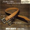 メンズ ベルト 本革 Hermann Oak  ベンズUKブライドルレザー ハンドメイド タン/ブラウン Men's High Quality Genuine Cowhide Leather Belt Pin Buckle Tan/Brown WILD HEARTS Leather&Silver (ID lb3834r52)