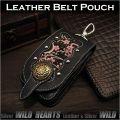 スマホケース アイフォンケース たばこケース 本革/レザー&和柄/ちりめん京友禅 Leather iPhone Case Smartphone Case Cellphone Case Japanese design and fabric  WILD HEARTS Leather&Silver(ID cc1332r71)